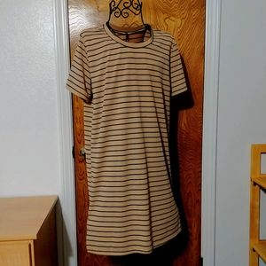 LuLu's Vertical striped t-shirt dress
